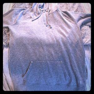 Victoria's Secret gray hooded sweatshirt